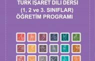 TÜRK İŞARET DİLİ  DERSİ ( 1,2,VE 3 SINIFLAR )  ÖĞRETİM PROGRAMI 2016
